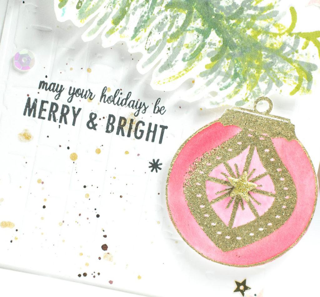 Bright Baubles card by Taheerah Atchia