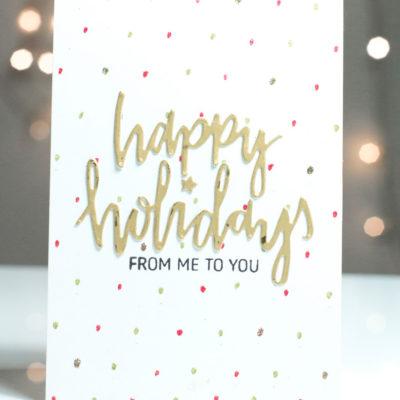 Happy Holidays card by Taheerah Atchia
