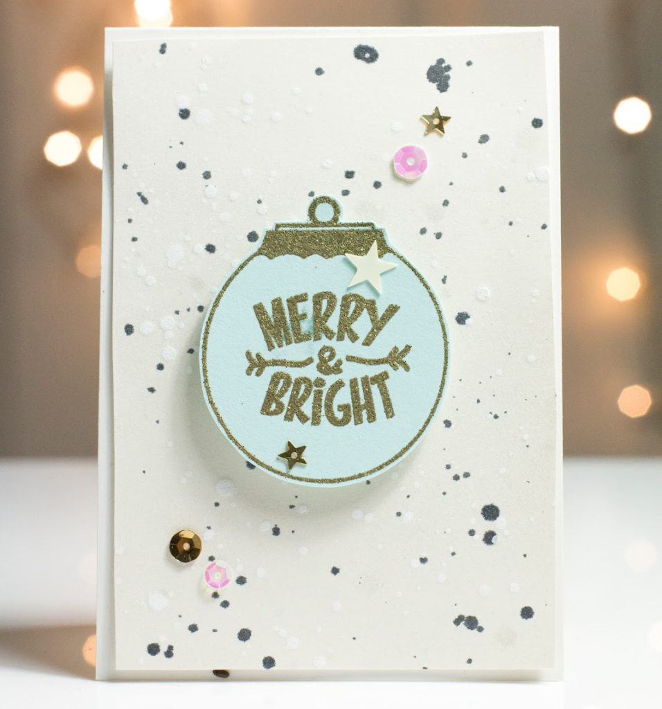 Merry & Bright Ornament card by Taheerah Atchia
