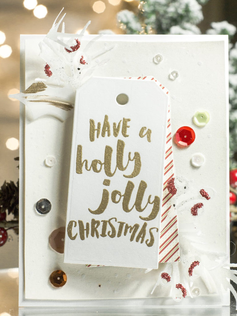 Holly Jolly Christmas card by Taheerah Atchia