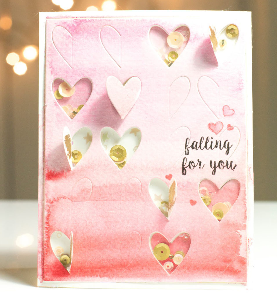 Watercolour Falling For You card by Taheerah Atchia