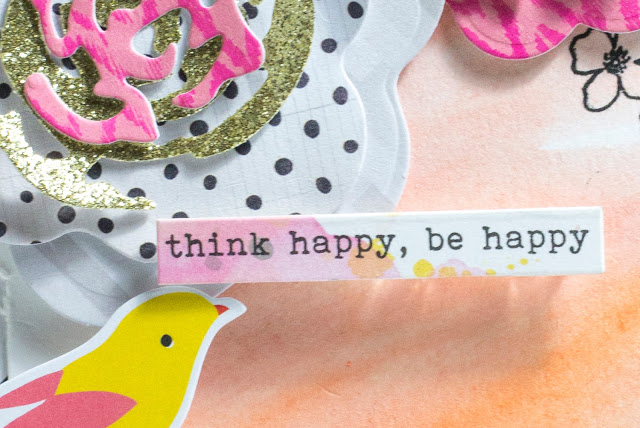 Close-Up of Think Happy Be Happy card by Taheerah Atchia