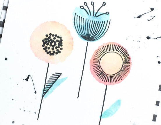 Close-up of Abstract Flowers card by Taheerah Atchia