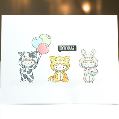 Cute onesie kids card by Taheerah Atchia