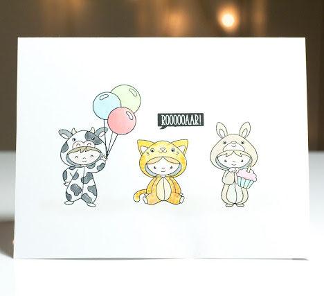 Cute onesie kids card by Taheerah Atchia