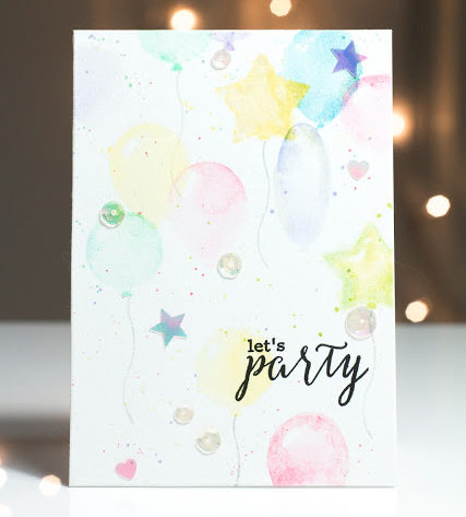 Let's Party Balloon card by Taheerah Atchia