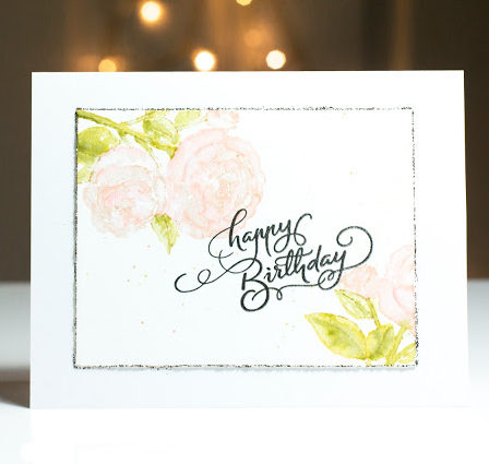 Birthday Roses card by Taheerah Atchia