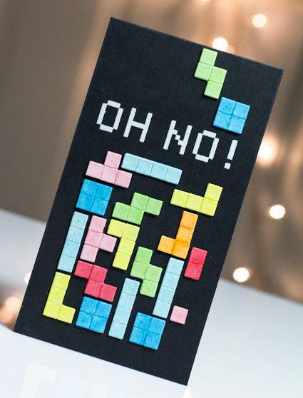 Tetris card by Taheerah Atchia