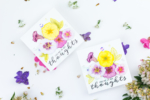 Watercoloured & Stamped Petunias Card Tutorial