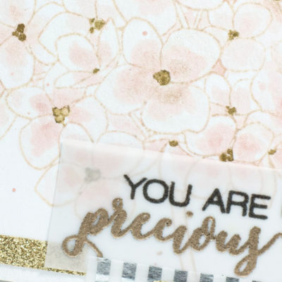 Close up of Floral card