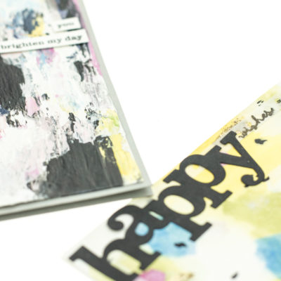 Close up of Mixed Media card