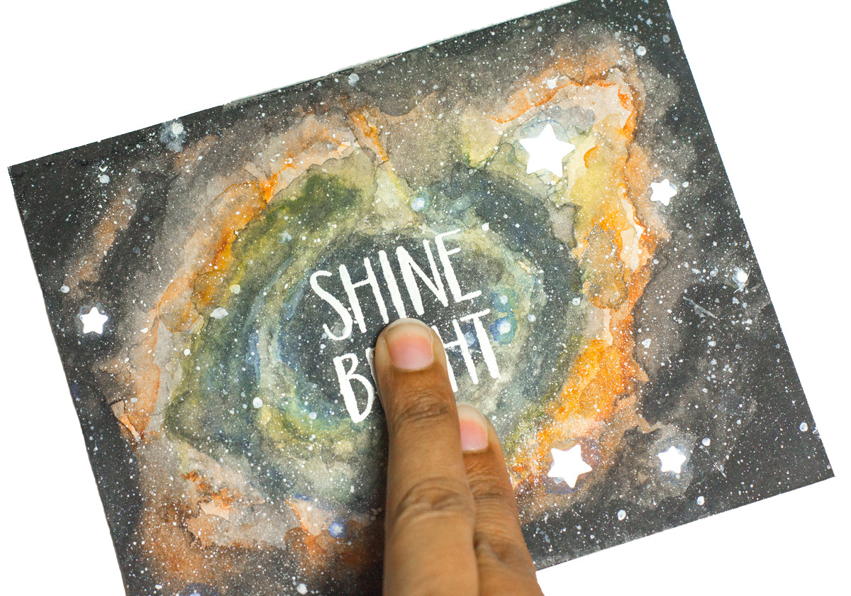 Light-Up Nebula Card by Taheerah Atchia