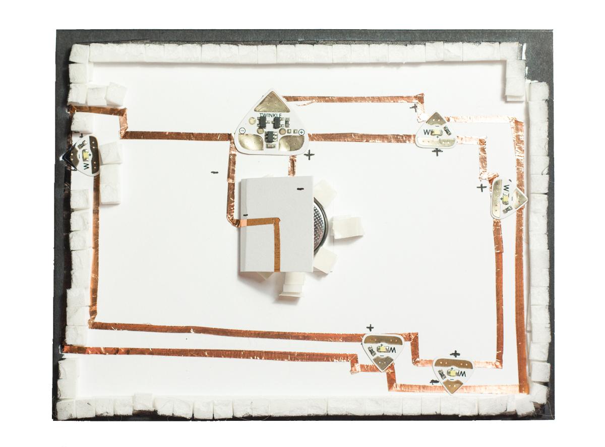 Light-Up Nebula Card - Circuit Switch Closing by Taheerah Atchia