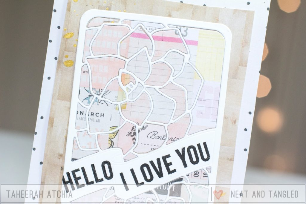 Hello Love You Succulent Card by Taheerah Atchia