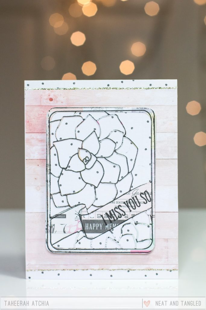 I Miss You Succulent Card by Taheerah Atchia