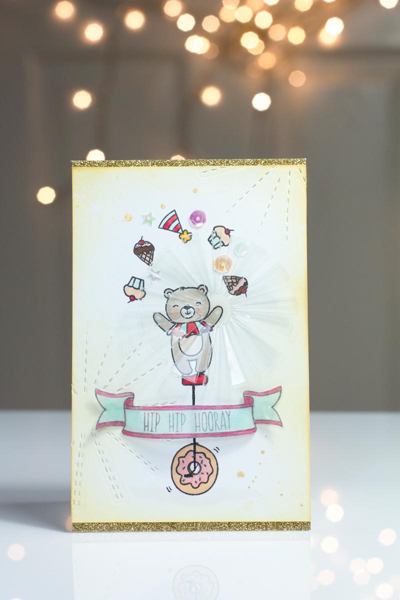 Unicycle Bear Card by Taheerah Atchia