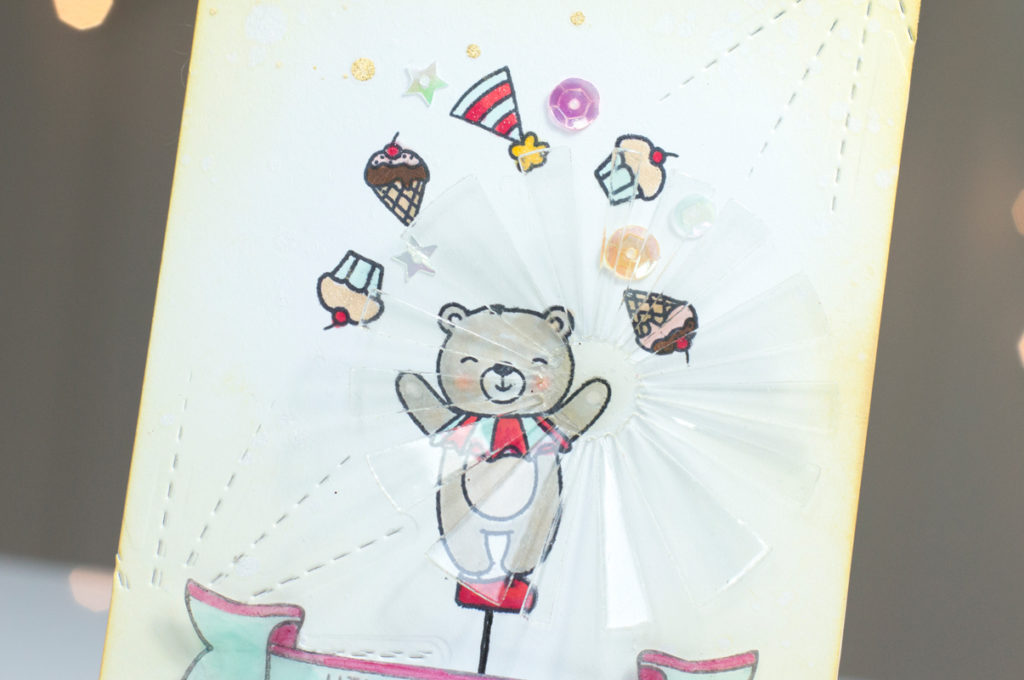 Unicycle Bear Card by Taheerah Atchia