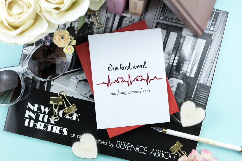 Caring Hearts - One Kind Word Can Change Someone's Day Card by Taheerah Atchia