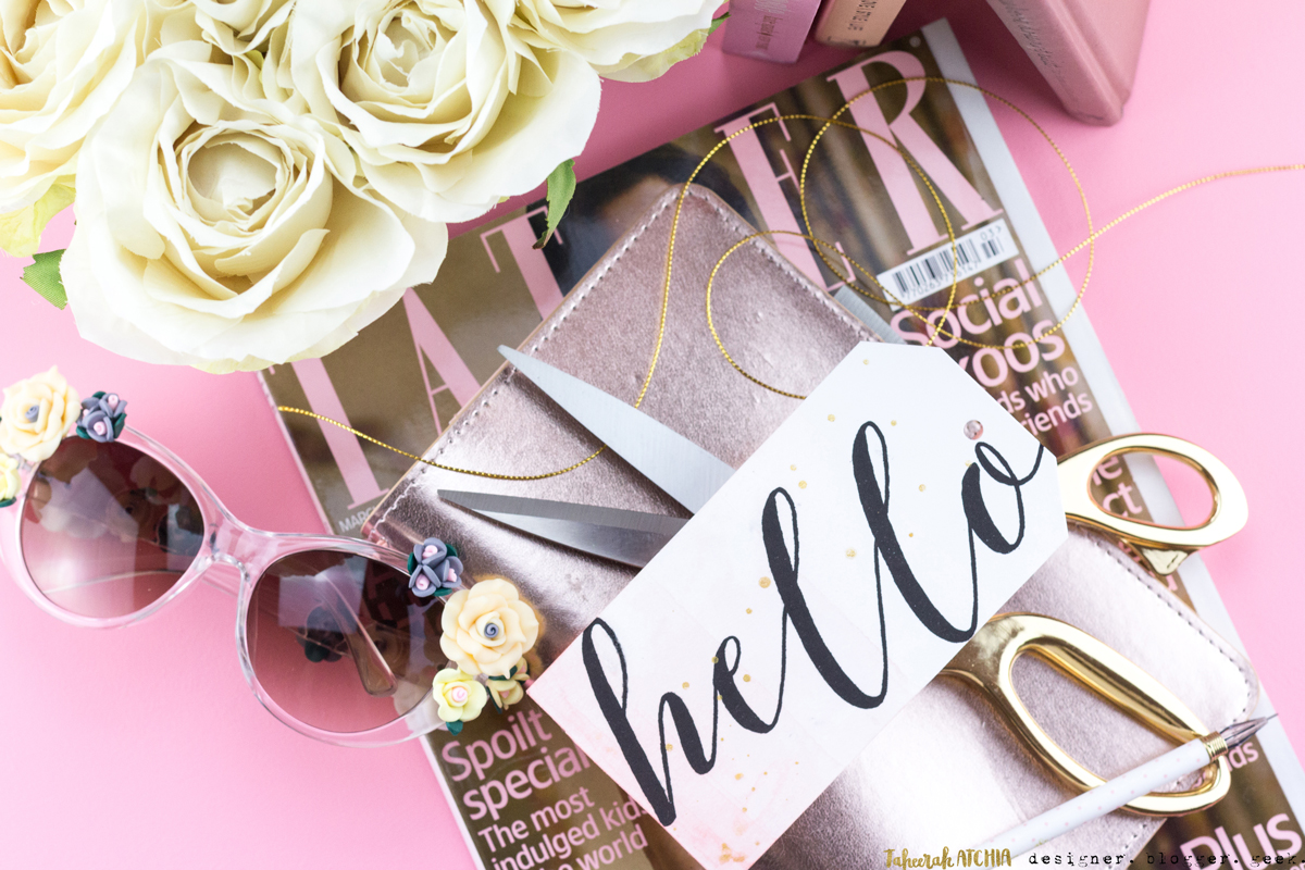 Dip-Dyed Hello Tag by Taheerah Atchia