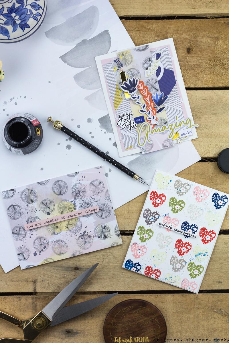 Uplifting Indigo Hills Cards by Taheerah Atchia