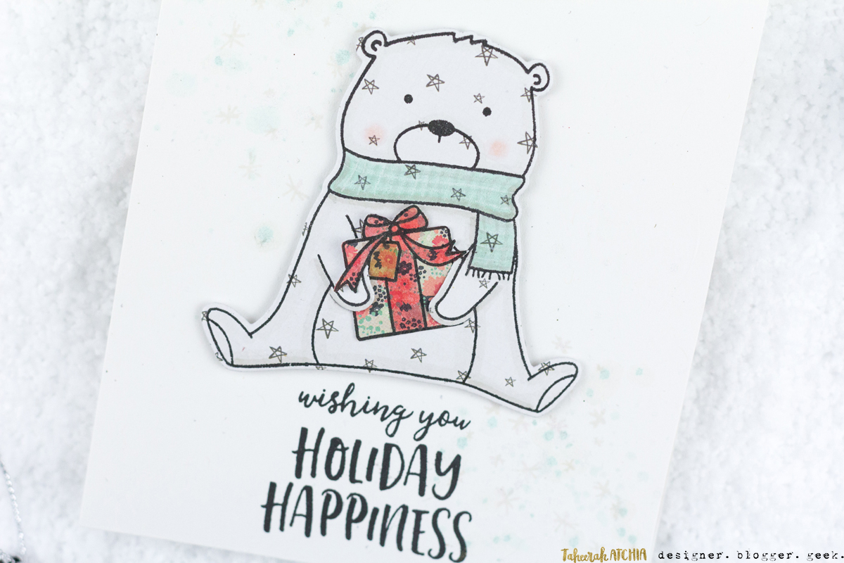 Beary Merry Holiday Happiness Card by Taheerah Atchia