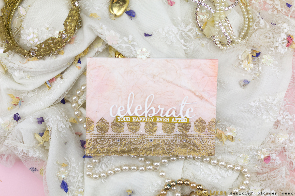 Celebrate Your Happily Ever After Indian Wedding Card by Taheerah Atchia