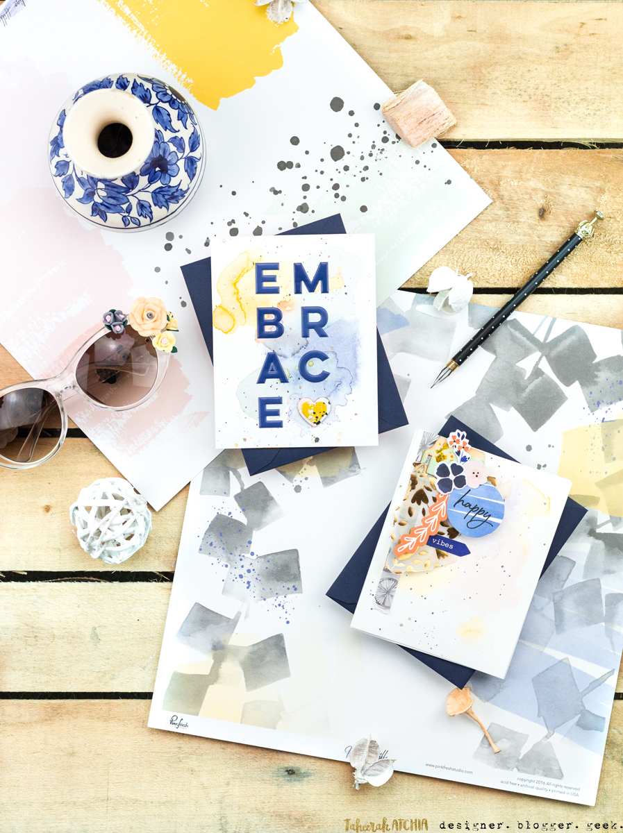 Embrace Happy Vibes Cards by Taheerah Atchia