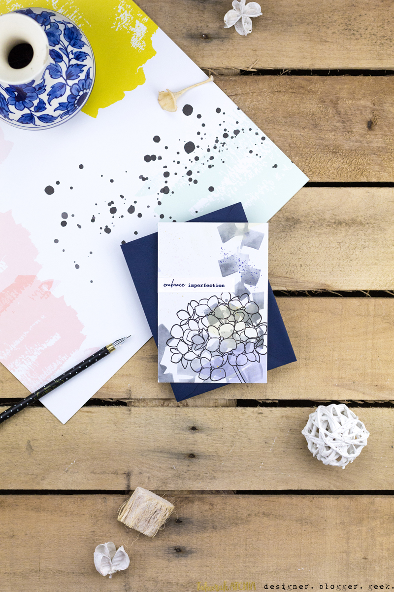 Embrace Imperfection Hydrangea Card by Taheerah Atchia