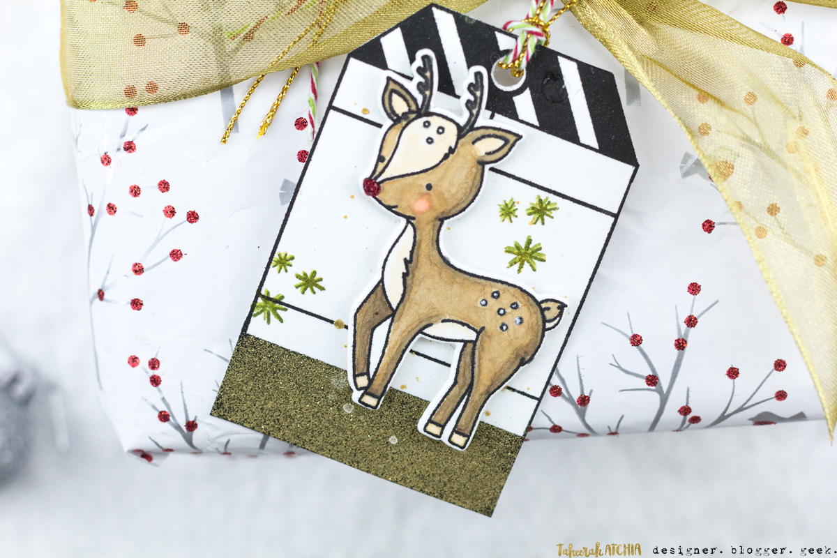 Into The Woods Deer Christmas Tag by Taheerah Atchia