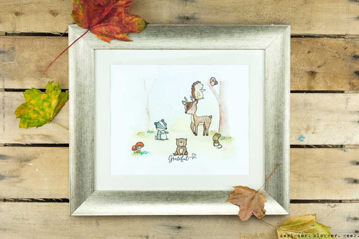 Into The Woods Woodland Scene Wall Art by Taheerah Atchia