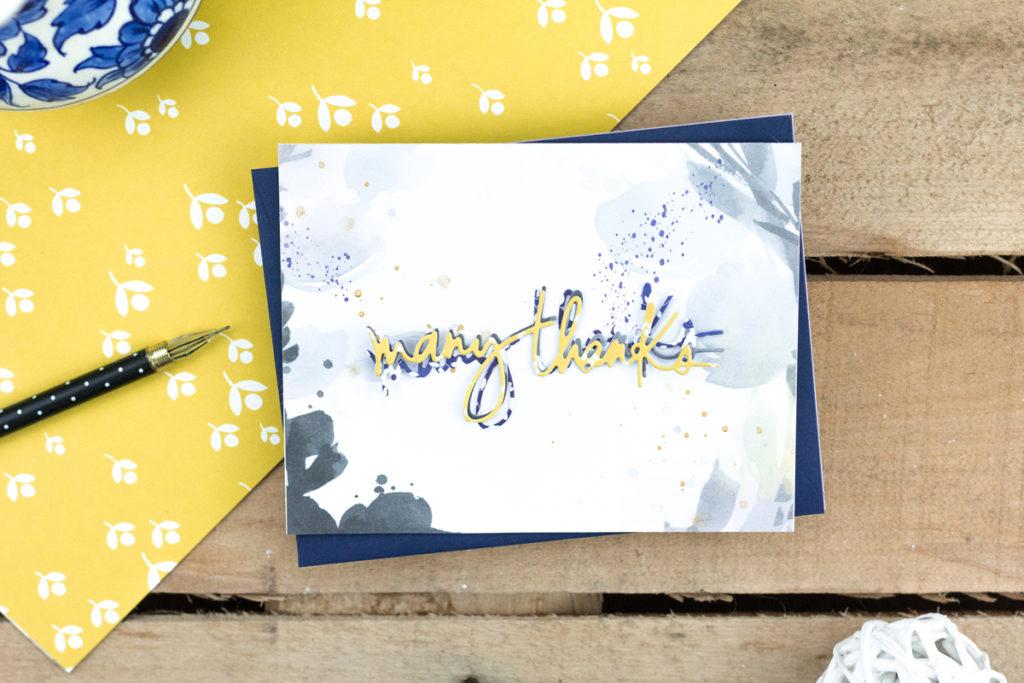 Layered Many Thanks Card by Taheerah Atchia