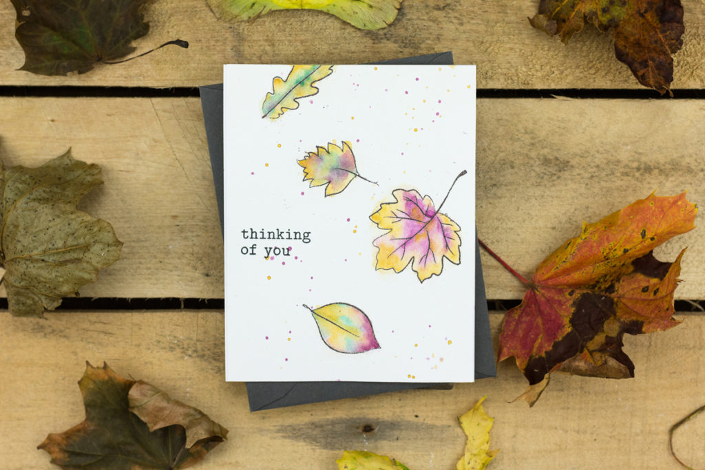 Thinking of You Leaves Masculine Card by Taheerah Atchia