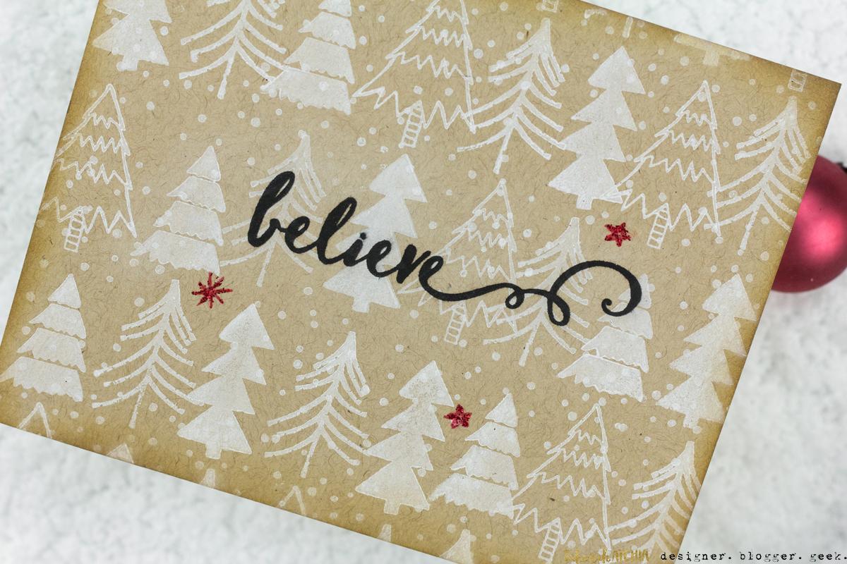 Believe Kraft Christmas Tree Card by Taheerah Atchia