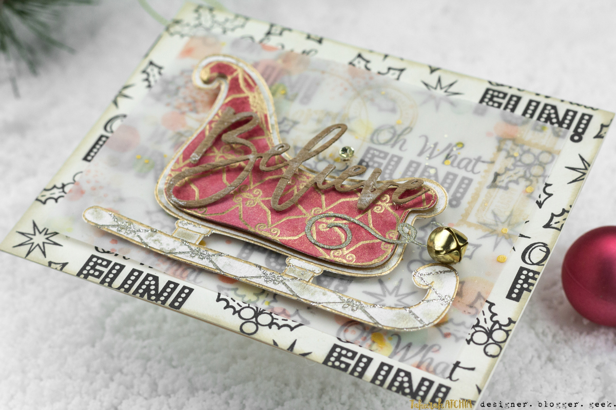 Believe Sleigh Card by Taheerah Atchia