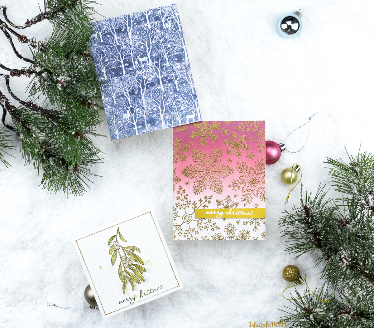 Christmas Cards with Hero Arts by Taheerah Atchia