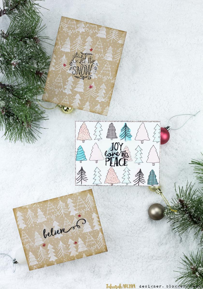 Christmas Tree Card Trio by Taheerah Atchia