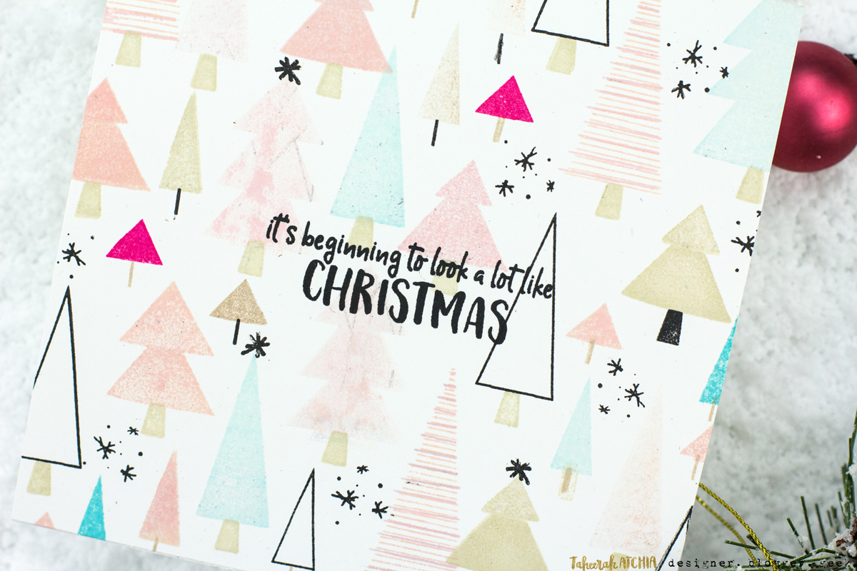 Forest of Christmas Trees Card by Taheerah Atchia