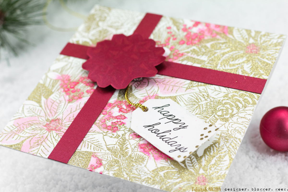 Happy Holidays Present Card by Taheerah Atchia