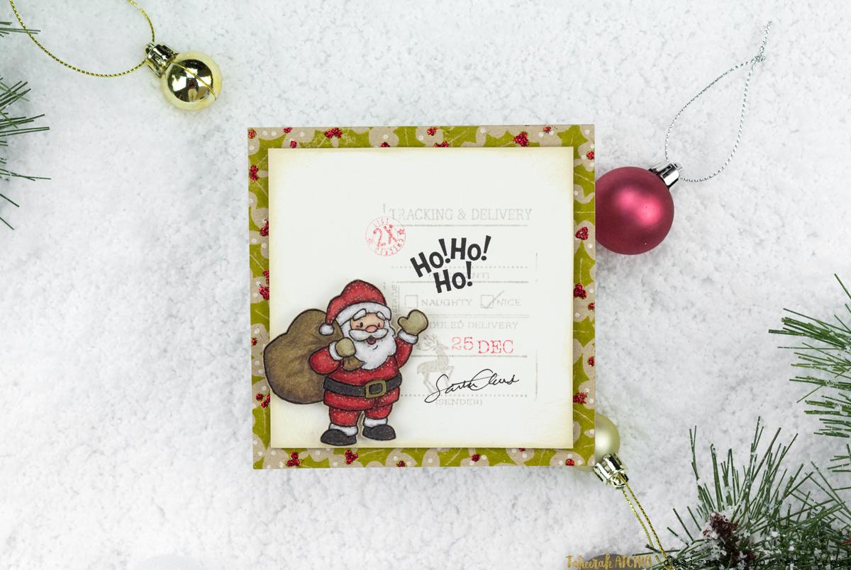 Ho! Ho! Ho! Santa Card by Taheerah Atchia
