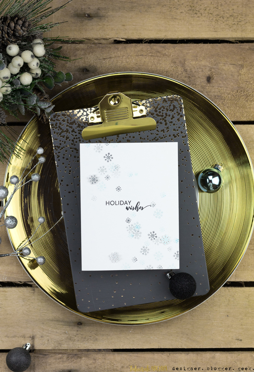 Holiday Wishes Snowflakes Card by Taheerah Atchia