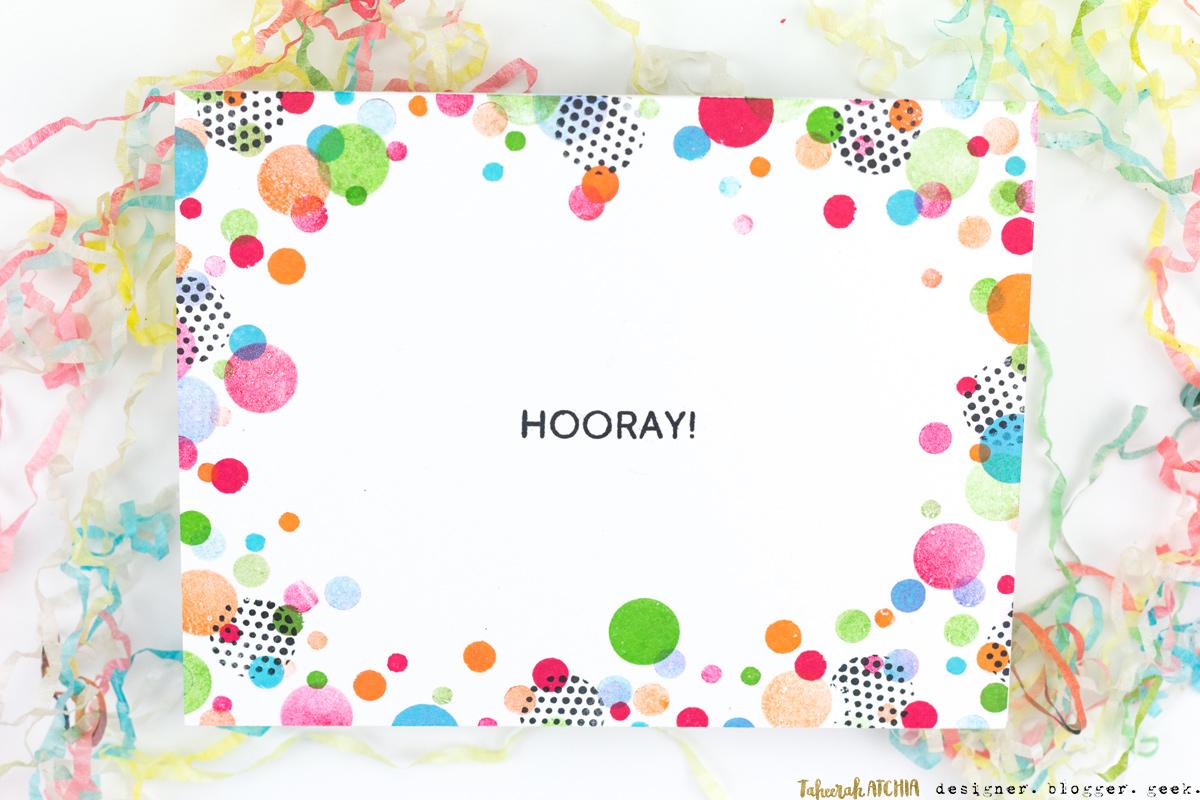 Hooray Confetti Card by Taheerah Atchia