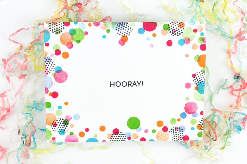 Hooray Confetti Card by Taheerah Atchia