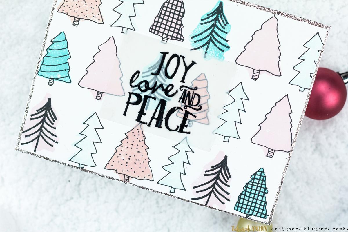 Joy Love Peace Card by Taheerah Atchia
