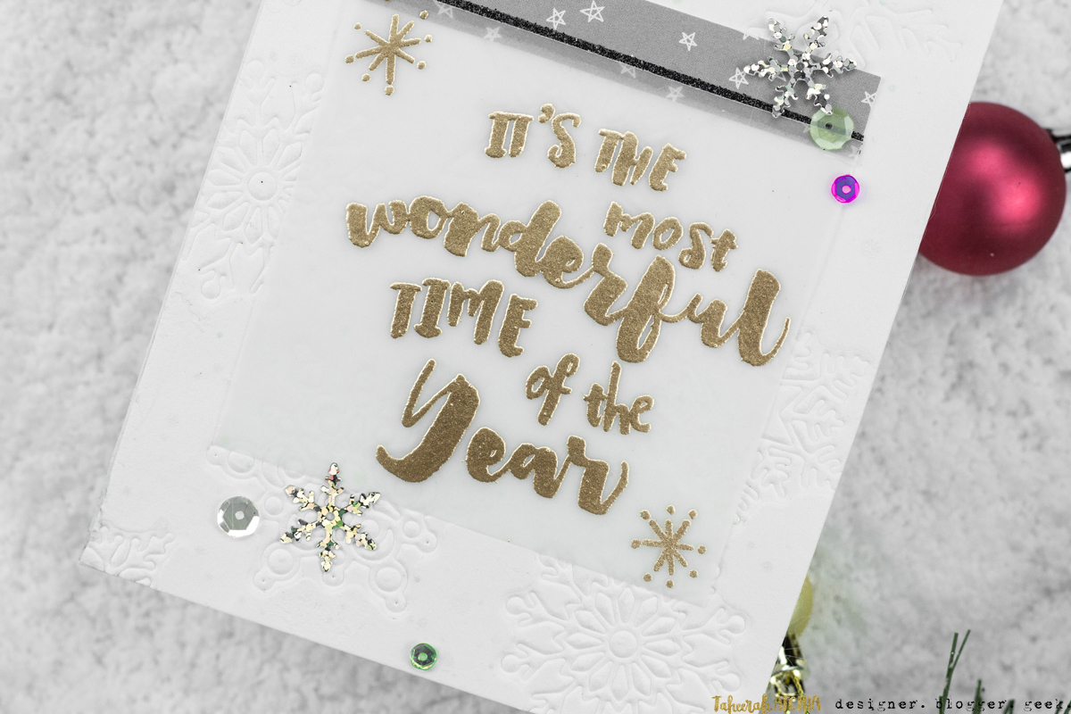 Most Wonderful Time of The Year Card by Taheerah Atchia