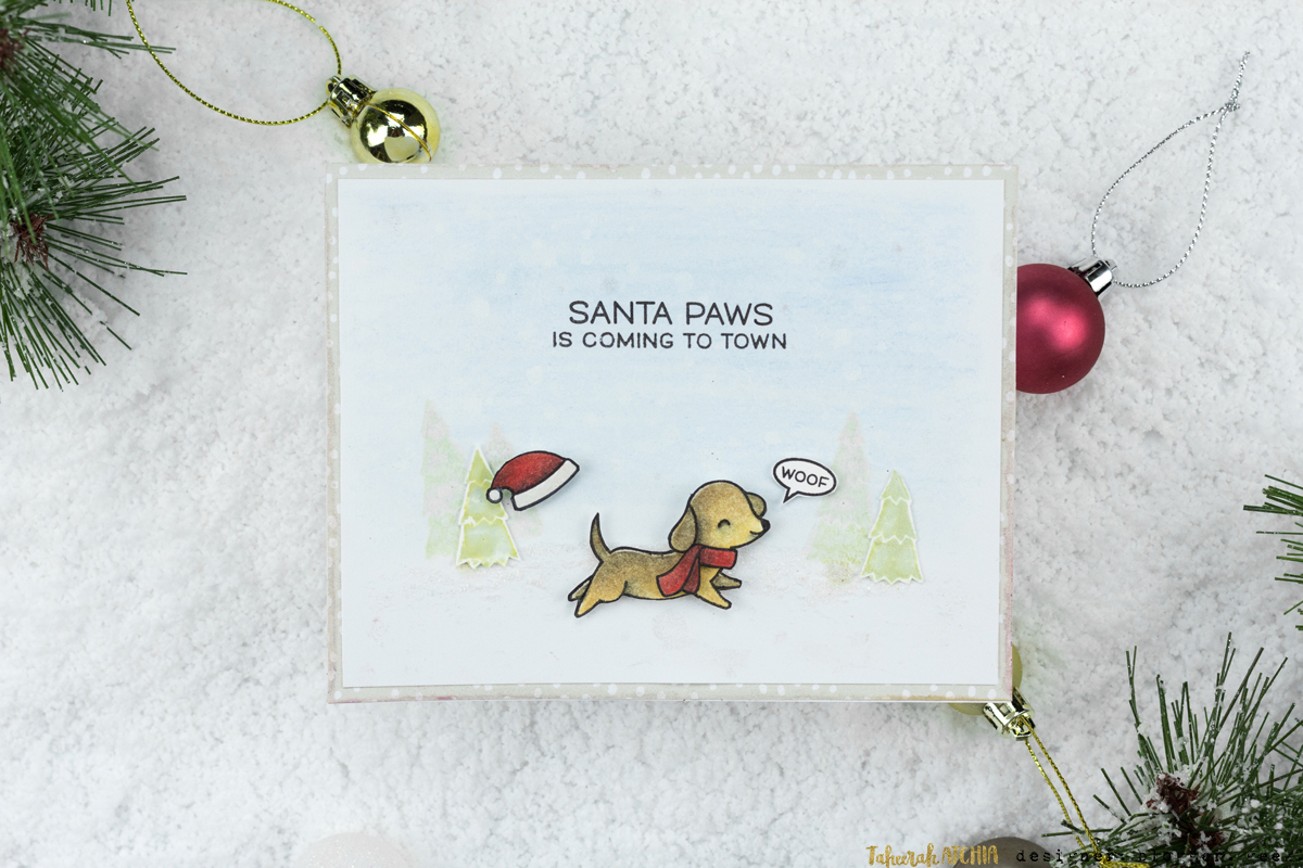 Santa Paws Is Coming To Town Card by Taheerah Atchia