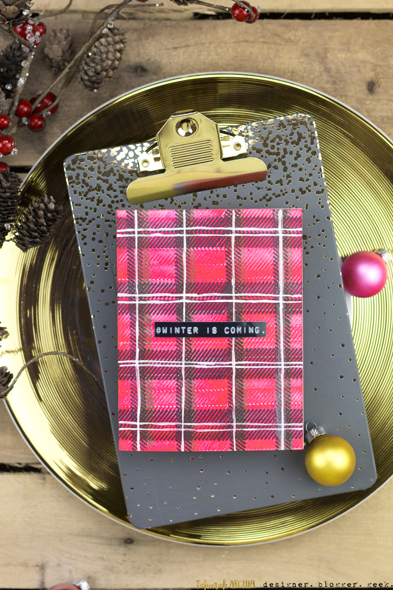 Winter Is Coming Plaid Card by Taheerah Atchia