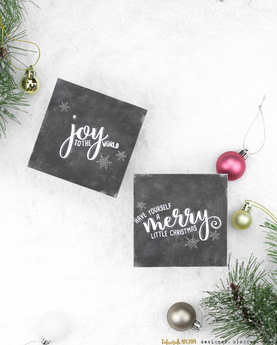 Chalkboard Christmas Cards by Taheerah Atchia