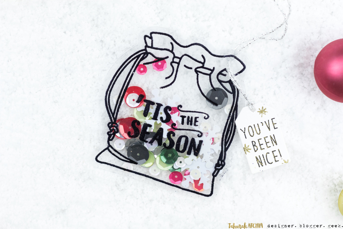 Christmas Sack Shaped Shaker Gift Tag by Taheerah Atchia
