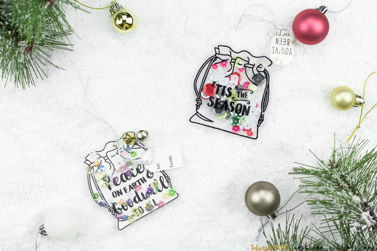 Christmas Sack Shaped Shaker Gift Tags by Taheerah Atchia