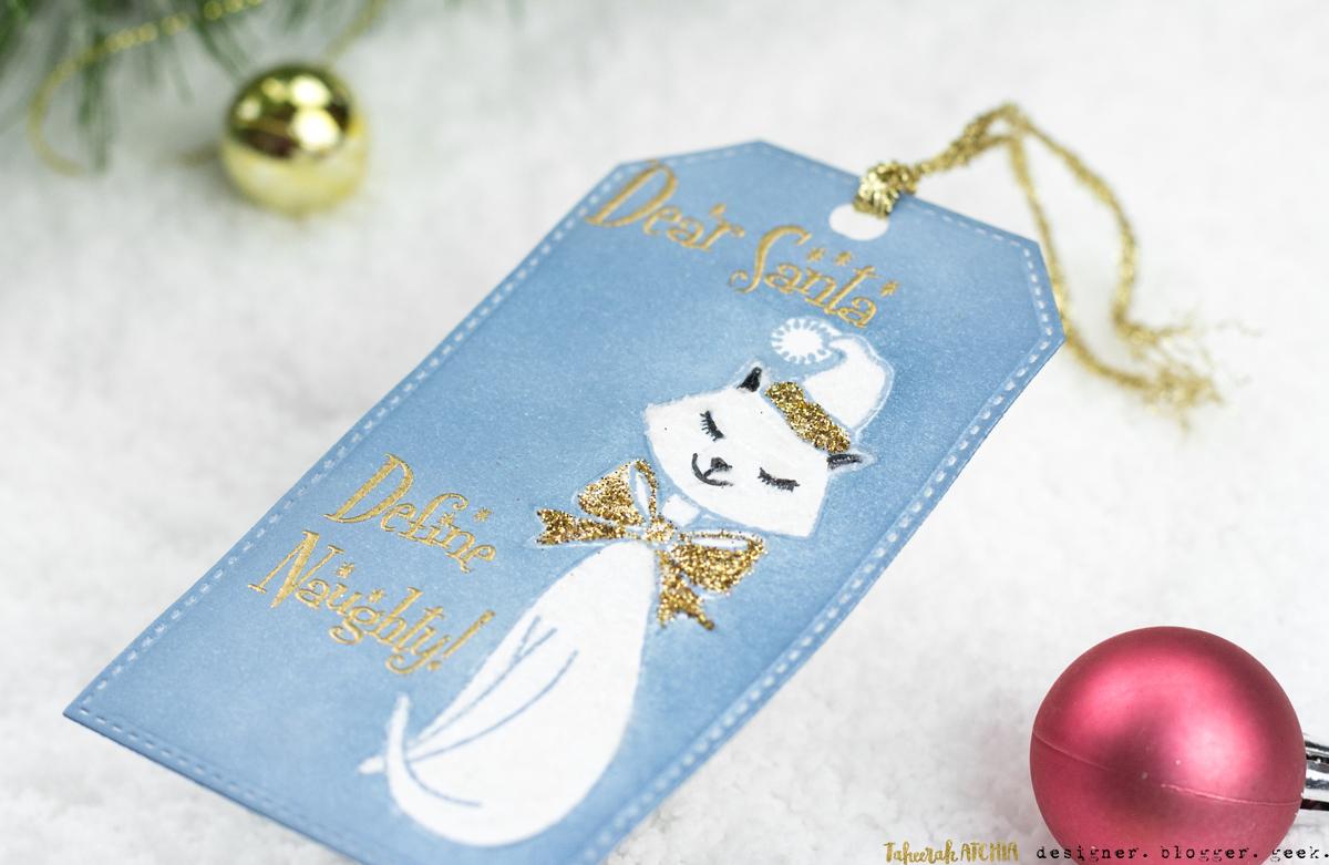 Define Naughty Christmas Kitty Tag by Taheerah Atchia